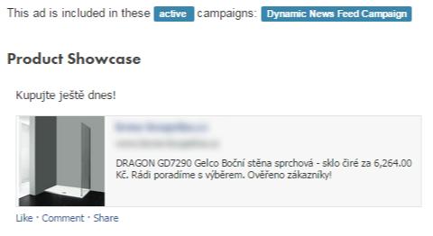 Takto vypadají dynamické reklamy. Data jsou načítána z XML Google nákupů. Text inzerátu můžete doplnit dynamickými informacemi produktu.